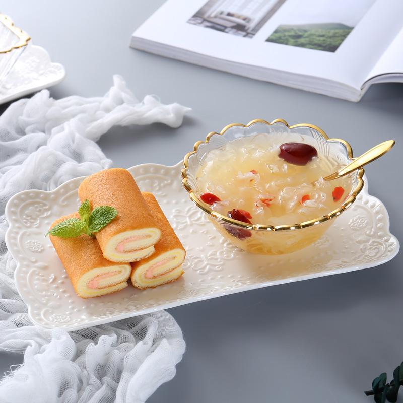 燕窝碗甜品碗欧式小奢华宫廷高档水晶碗套装糖水碗玻璃碗家用创意