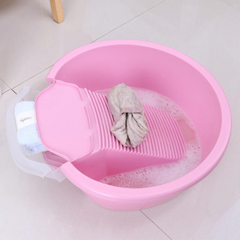 洗衣盆带搓板带洗衣板的洗衣盆大号脸盆加厚婴儿洗衣盆搓衣盆家用