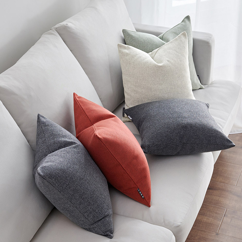 靠垫套抱枕套不含芯棉麻质感抱枕靠垫含PP棉芯沙发抱枕飘窗大靠垫