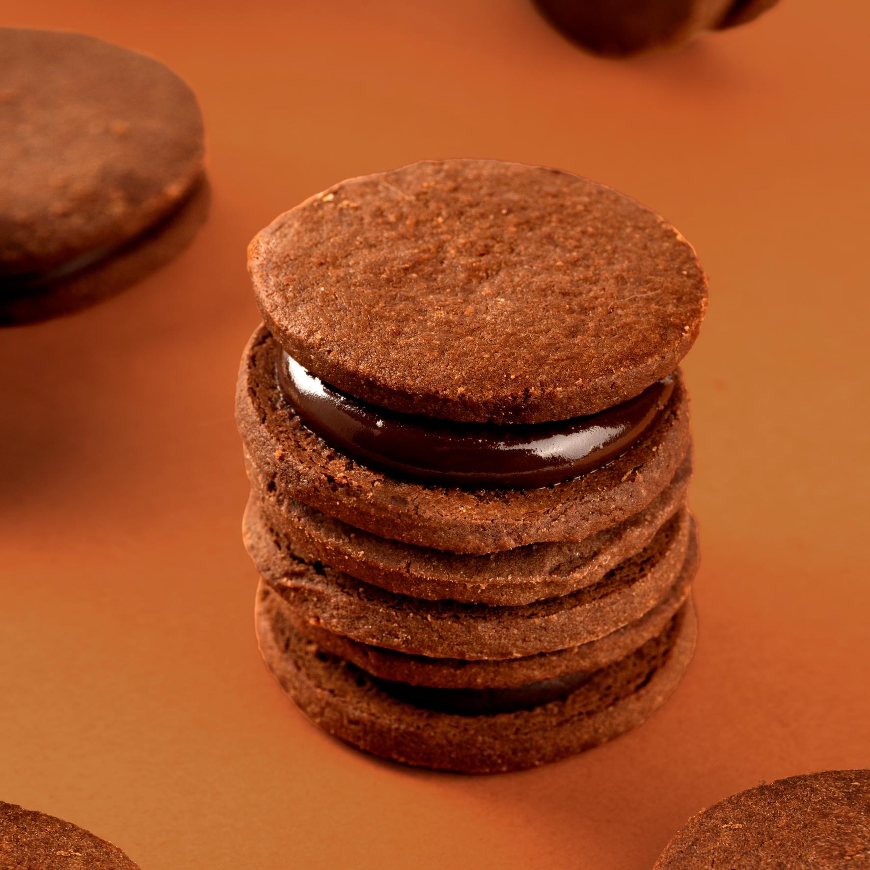 喵叔 巧克力夹心饼干 手工曲奇早餐零食糕点点心甜品网红零食食品