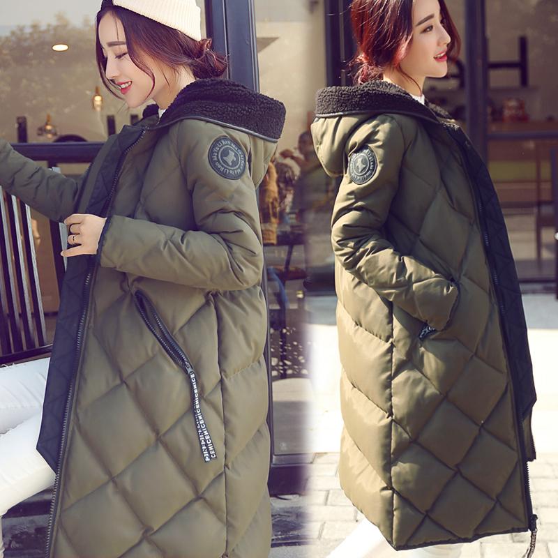 棉服女韩版宽松bf冬季外套女2018新军绿色工装棉袄加厚ins面包服
