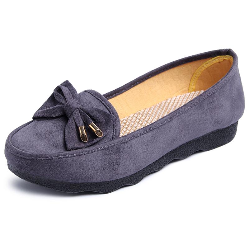 夏季妈妈款鞋老北京布鞋女2019秋季新款一脚蹬平跟工作鞋黑色上班