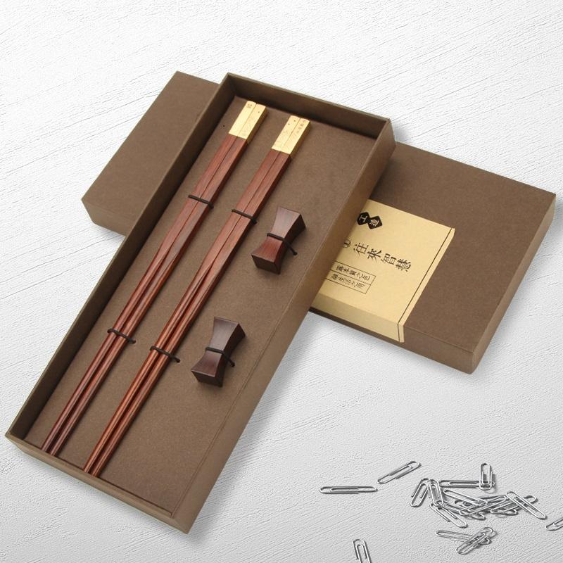 儿童亲子筷子家用一家三口 个性创意情侣高档实红木3双四口小孩快
