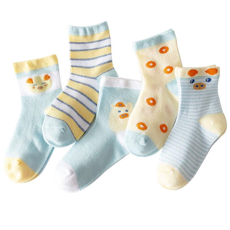 婴儿袜子夏季薄款春秋纯棉童袜新生儿男童女童宝宝儿童中筒袜秋冬