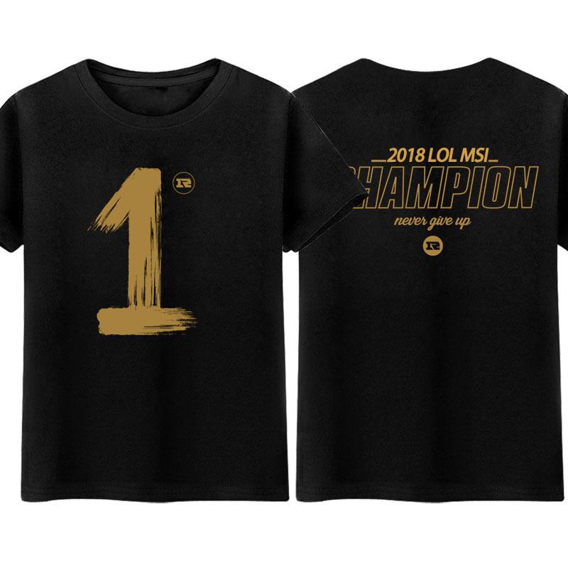皇族RNG战队服2018春纪念短袖T恤男女学生青少年联盟游戏衣服UZI