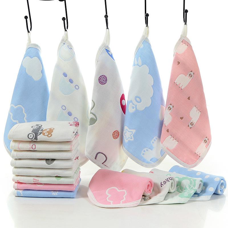 宝宝毛巾洗脸纯棉婴儿6层纱布口水巾超软新生儿童宝宝洗澡小方巾