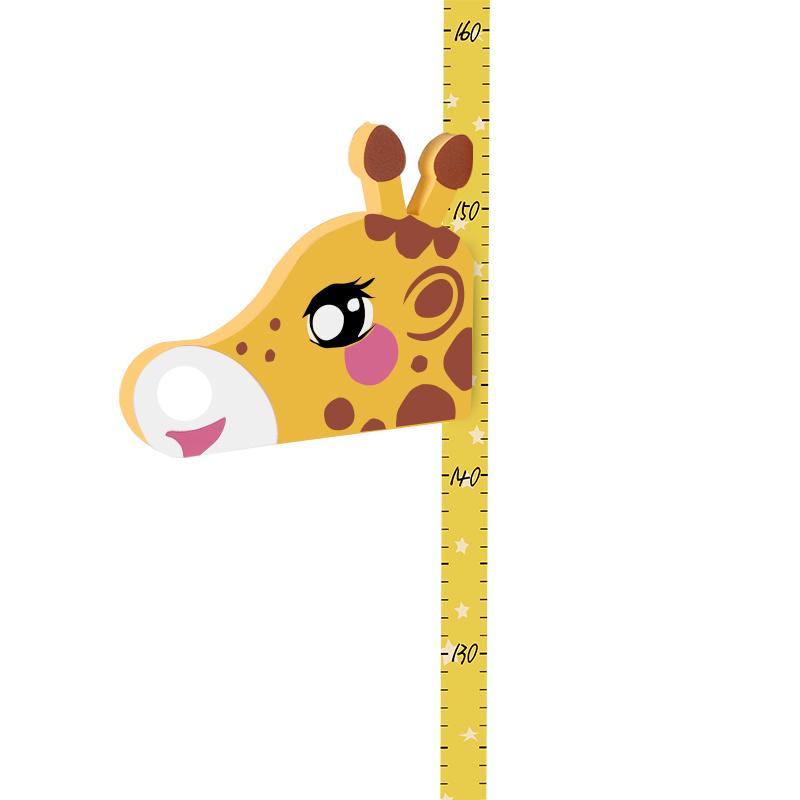 儿童身高墙贴3d立体家用量身高贴纸宝宝卡通长颈鹿测量仪尺可记录