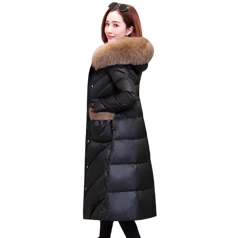 长款2019年新款冬季时尚女装羽绒服