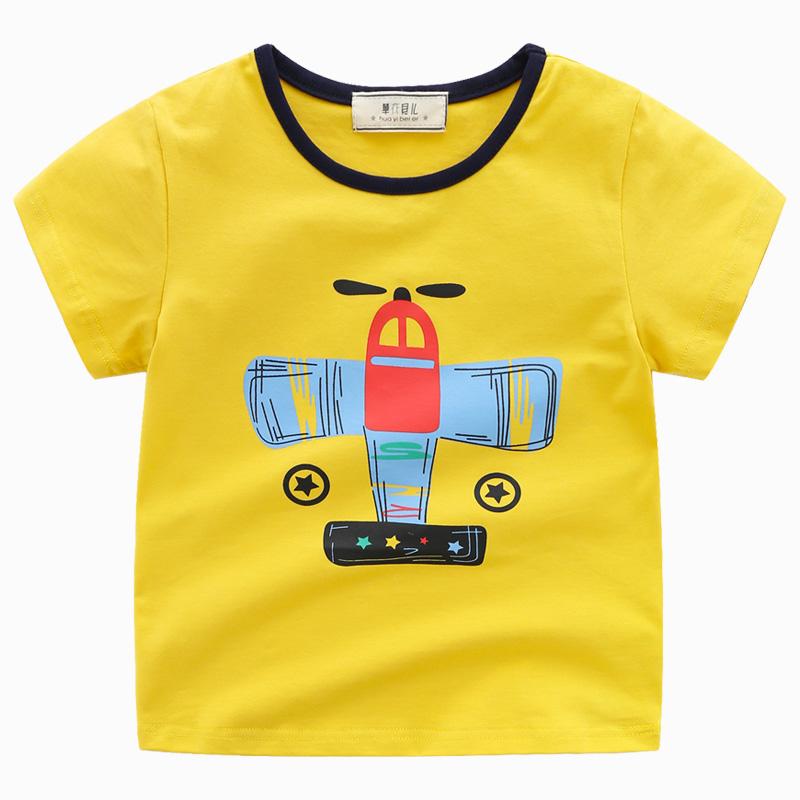 华衣贝儿男童短袖t恤新款圆领休闲纯棉夏 中大童男孩短袖t恤衫