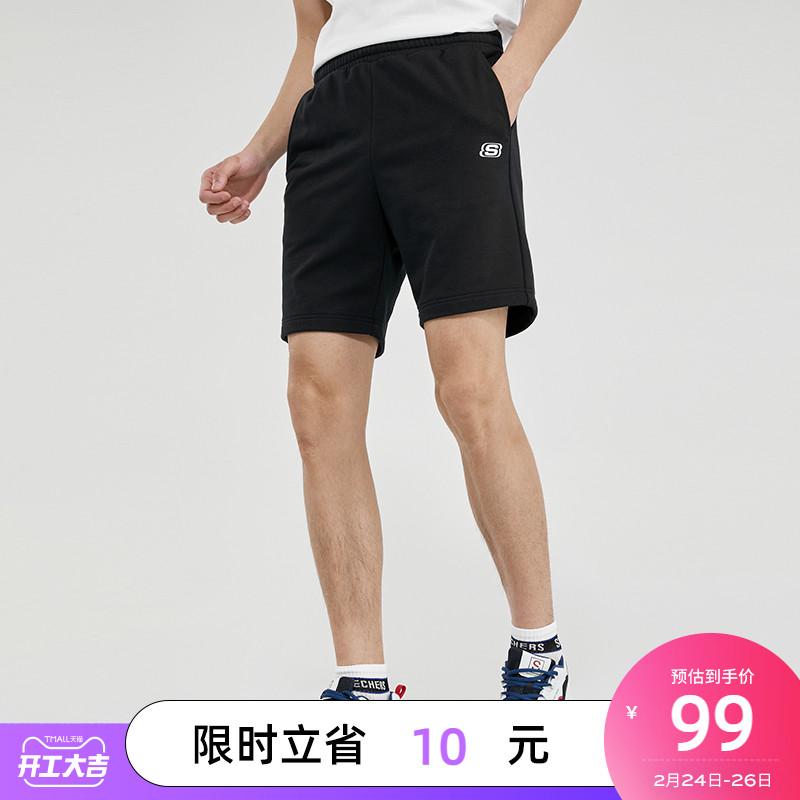 Skechers 斯凯奇 2021年春夏新品男子针织五分短裤