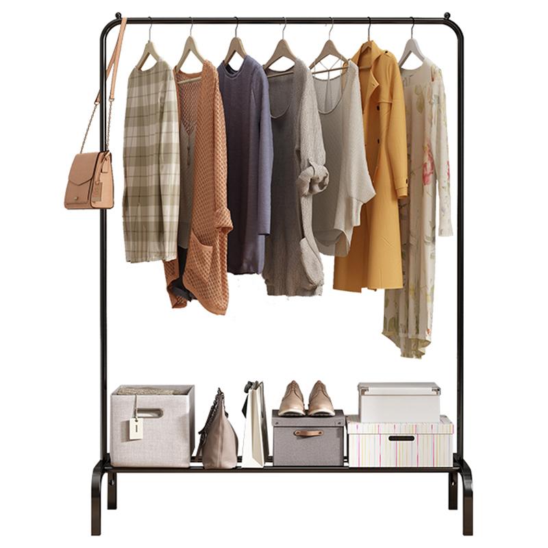 晾衣架落地折叠式室内收纳晒衣架卧室挂衣架家用简易凉衣服的架子
