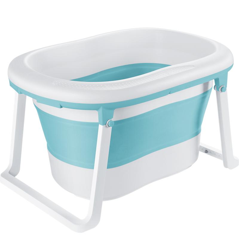 婴儿洗澡盆折叠浴桶儿童沐浴游泳宝宝家用可坐躺新生儿大号泡澡桶
