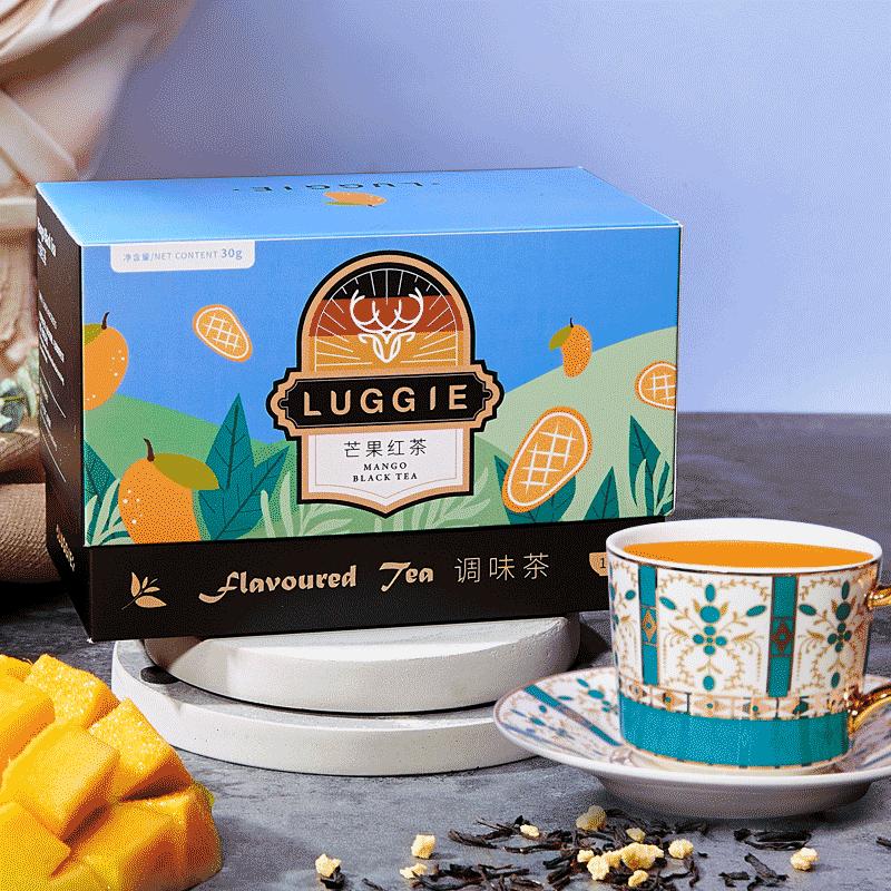 LUGGIE鹿叽芒果红茶花果茶进口果粒茶红茶包茶叶礼盒水果茶小袋装