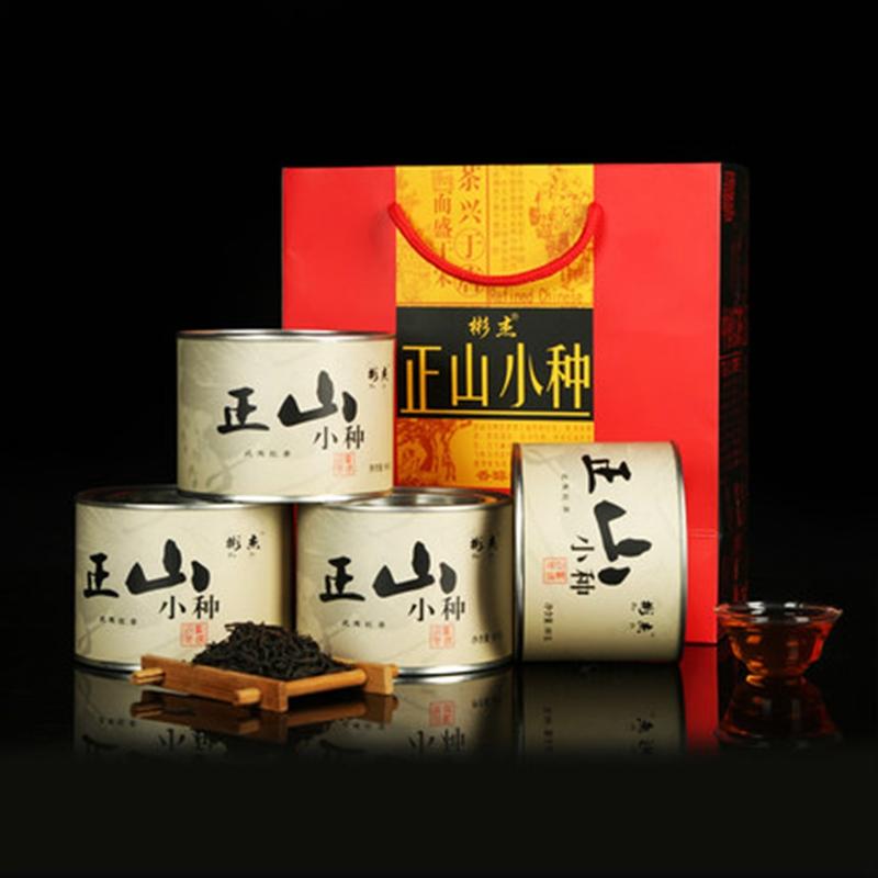 武夷山桂圆香野生红茶桐木关正山小种中秋送礼茶叶四罐装320克