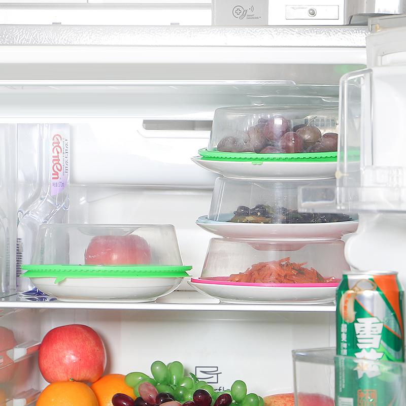 万能家用冰箱碗碟硅胶保鲜盖食品级剩饭菜罩微波炉加热防油密封盖