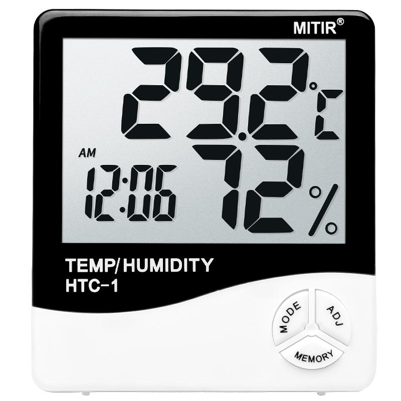 高精度温湿度计室内家用壁挂式电子温度计干湿婴儿房数显室温表