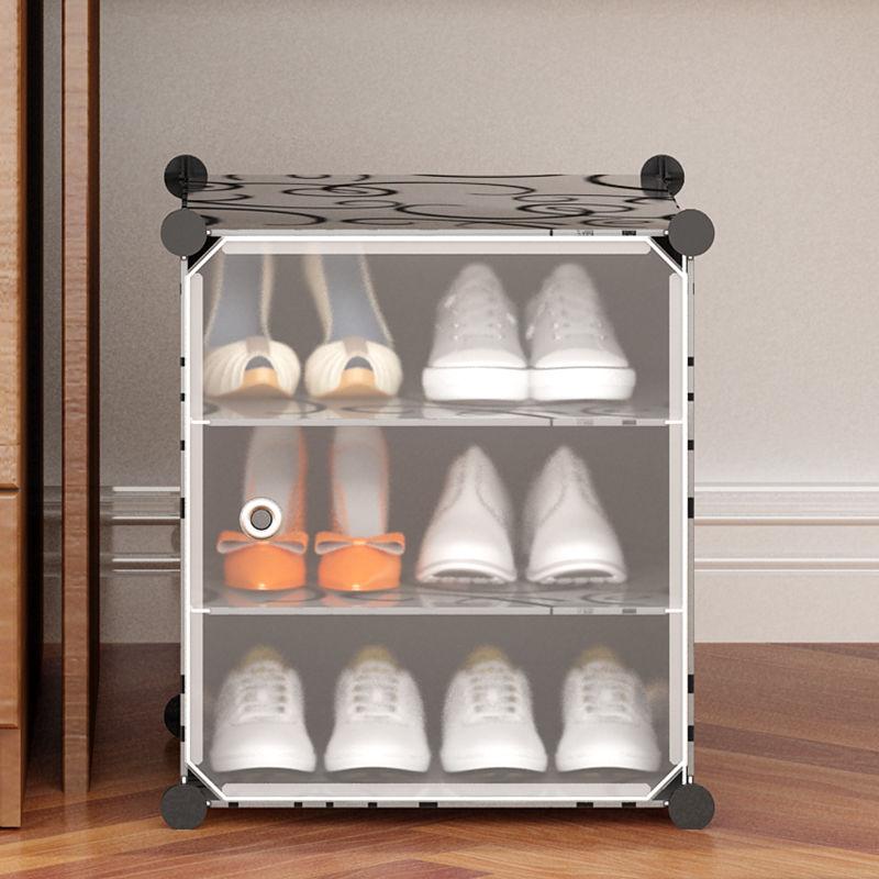 多功能收纳简易鞋柜宿舍桌下卧室迷你收纳双层床底置物鞋架子