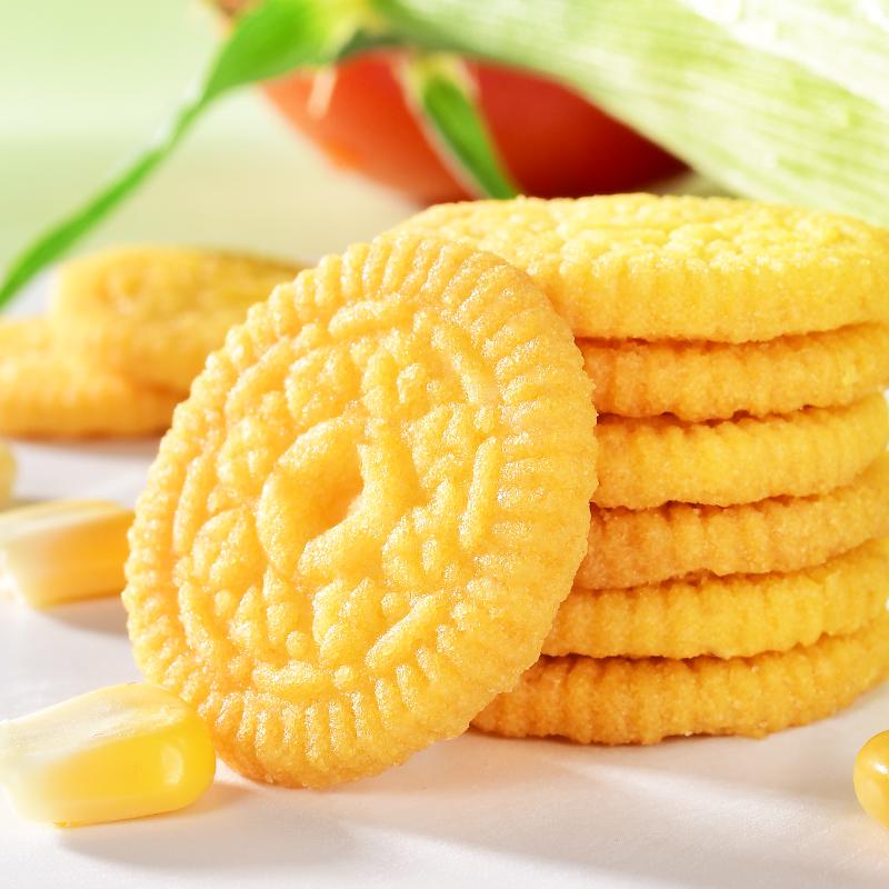 三猪拱食无蔗糖网红一饼两吃玉米糊早餐代餐玉米饼饼干零食6包/盒