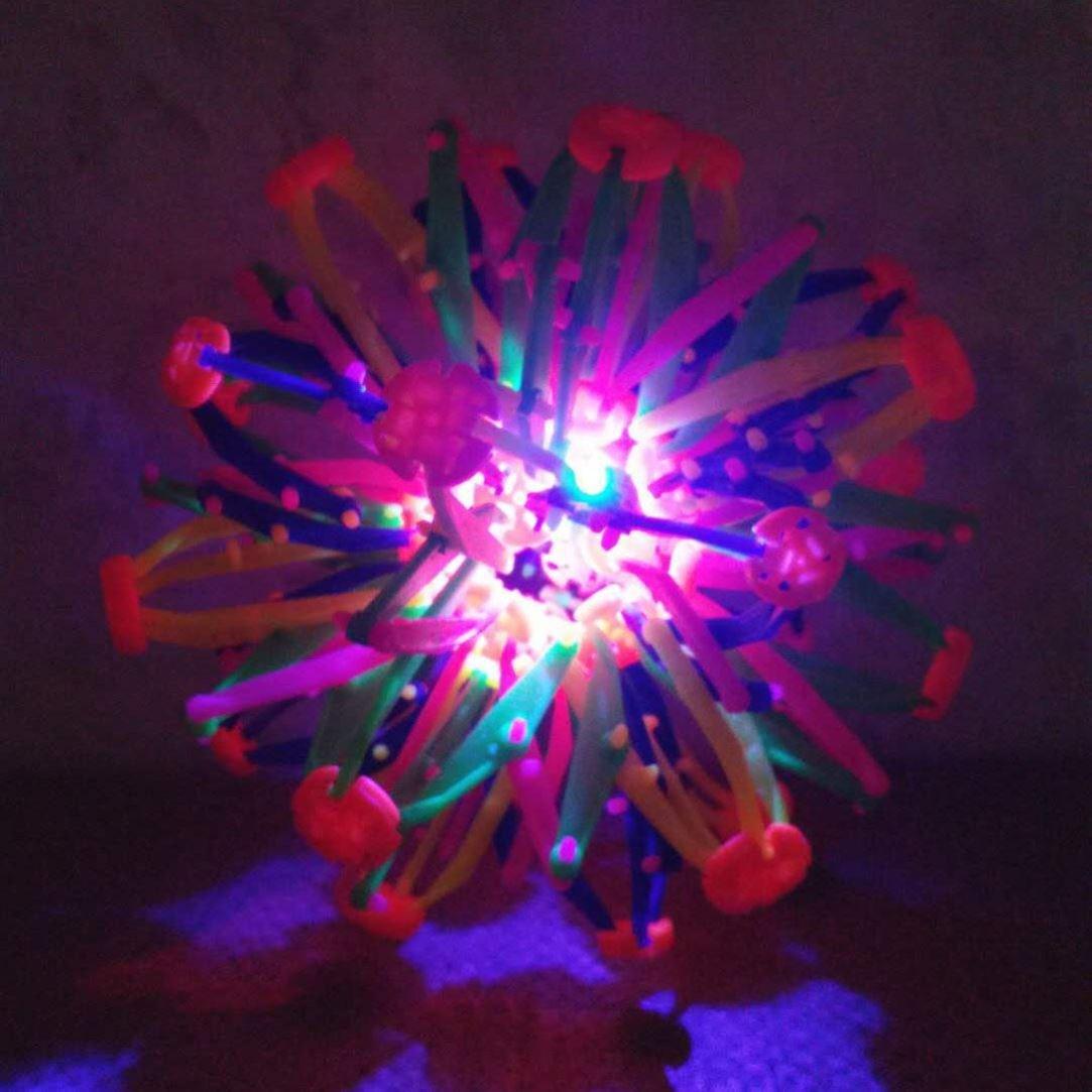 儿童魔术伸缩球玩具男孩宝宝女变形球弹力球百变收缩变大变小的55