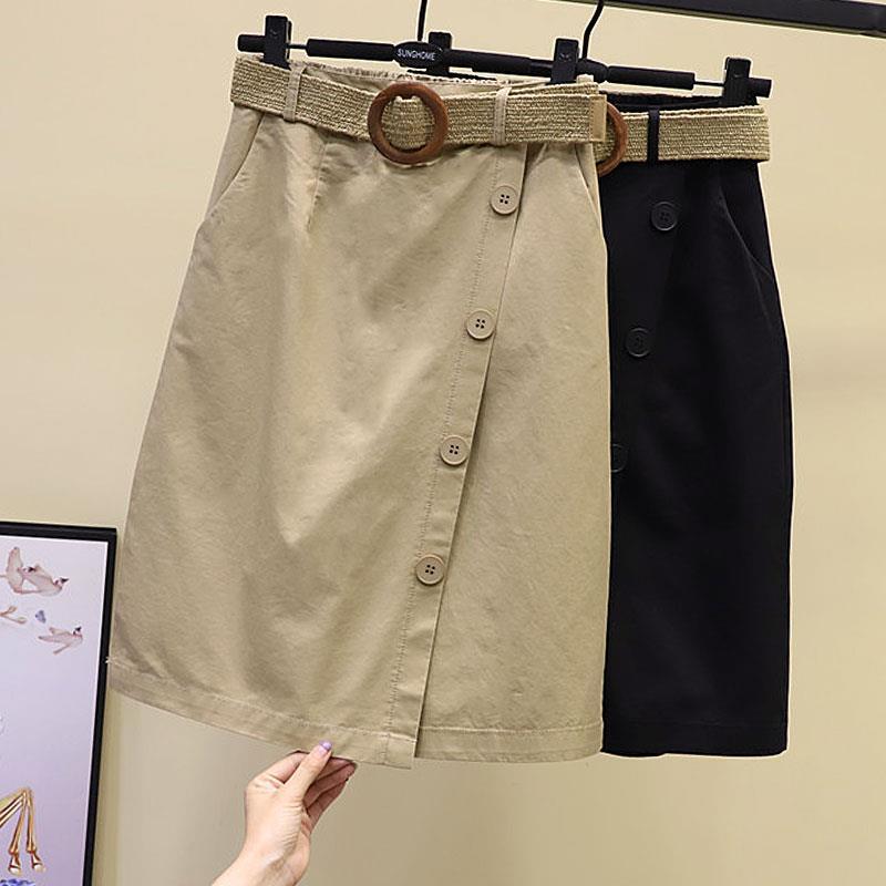 送腰带休闲女裤裙2021夏季新款欧货时尚阔腿裤五分裤直筒半身裙裤