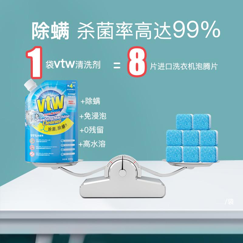 vtw洗衣机清洗剂全自动滚筒式污渍神器杀菌消毒清洁内槽强力除垢