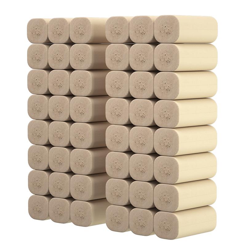 植护无芯卷纸巾本色卷筒纸厕纸手纸厕所卫生纸家用大实惠装整箱批