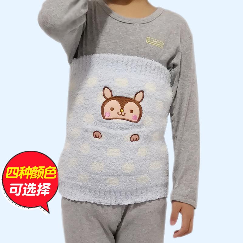 宝宝半边绒加厚婴儿肚兜睡觉护肚子保暖男女童秋冬季护腰儿童肚围