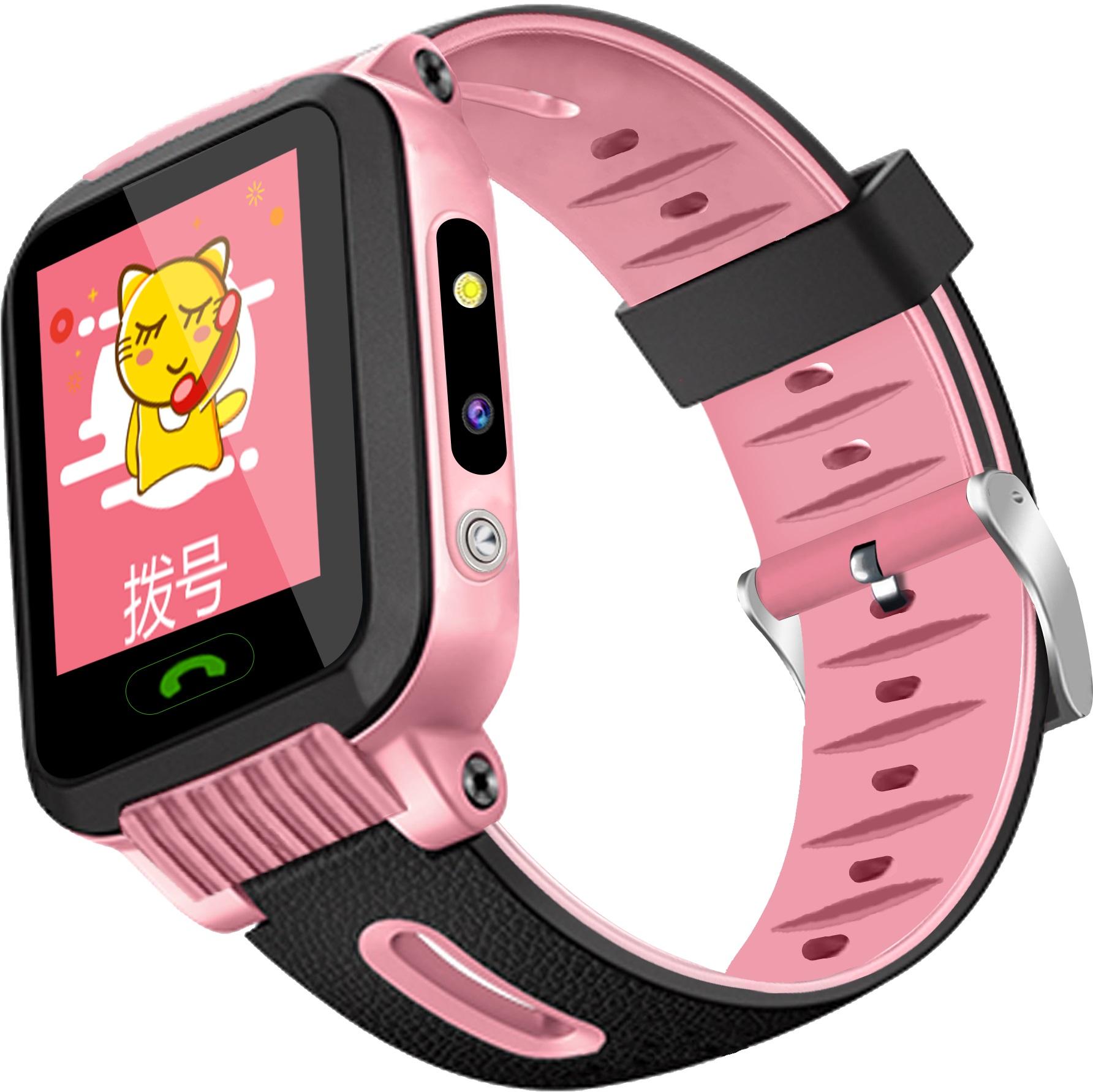 儿童电话手表电信版学生定位摩莱仕智能触摸微聊女孩防水手环包邮