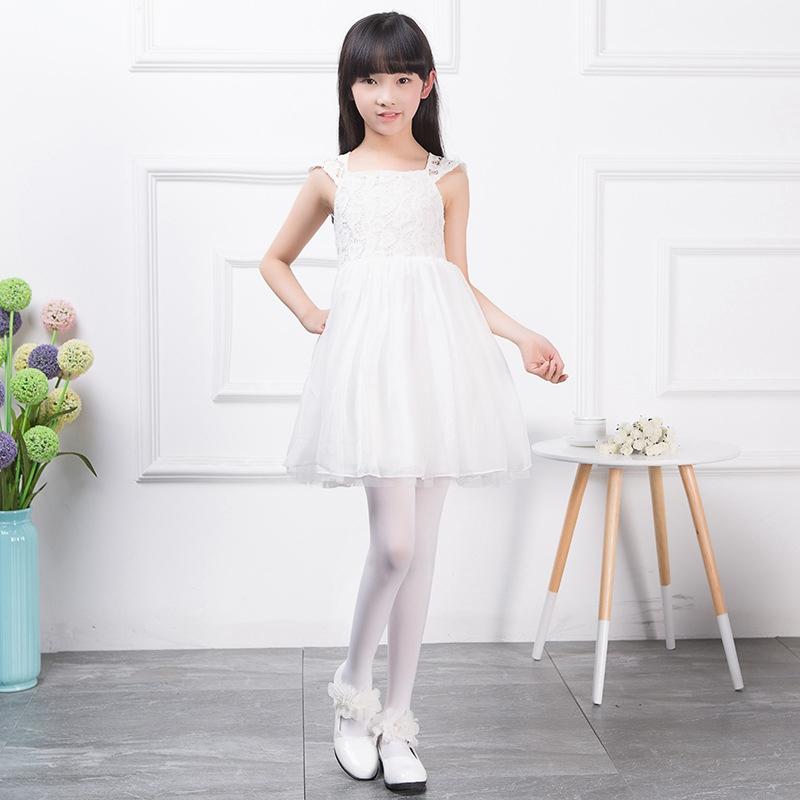 儿童天鹅绒舞蹈袜不起球春夏薄款肤色长筒宝宝连裤袜女童跳舞丝袜