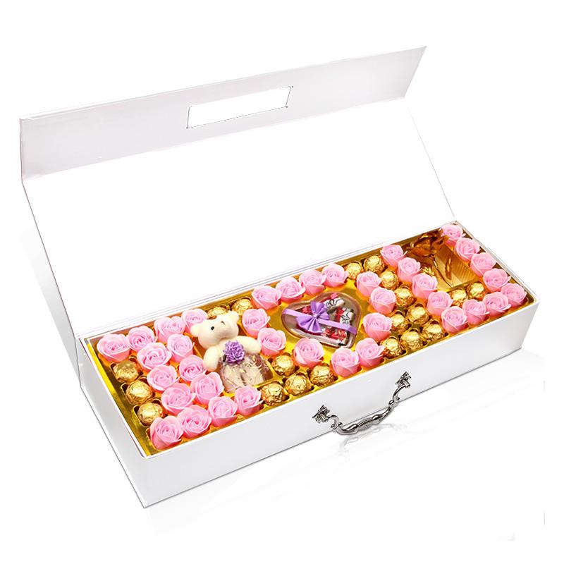 德芙巧克力礼盒装 送女友创意diy男女朋友闺蜜生日浪漫情人节礼物