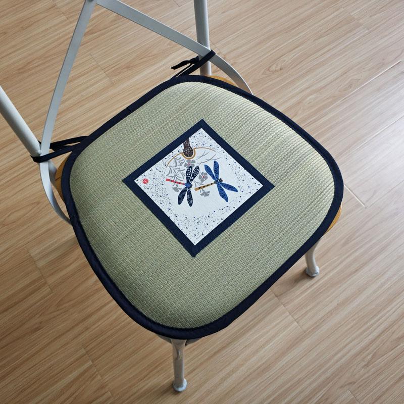 日式蔺草餐椅垫坐垫办公室女椅垫四季椅子夏天家用学生透气凉夏季