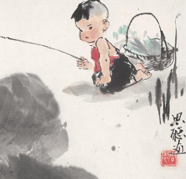 芯 心宣纸高清微喷画 画 装饰画 名家字画 国画 童趣图片