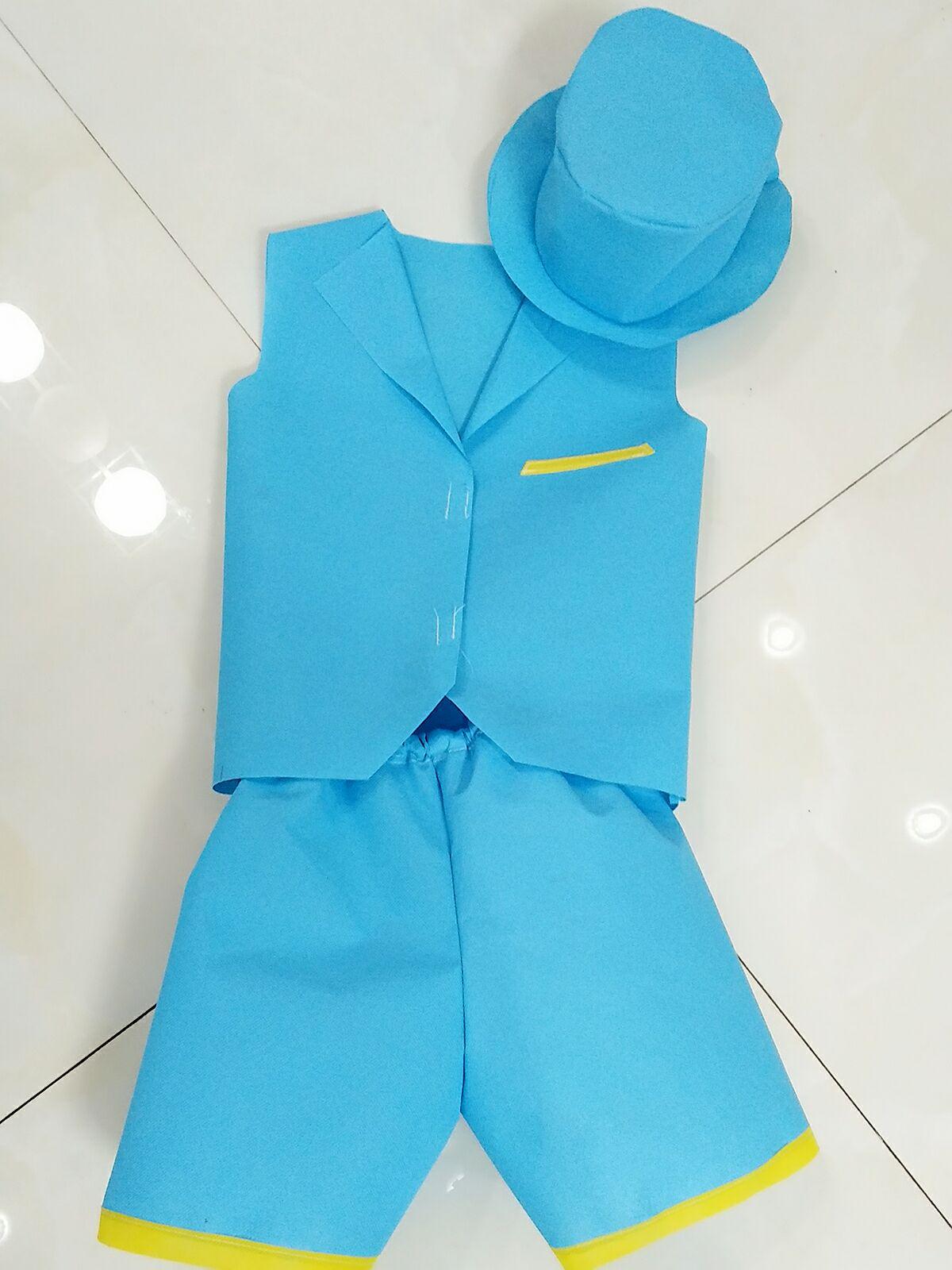 儿童环保衣服diy手工制作时装走秀幼儿园超人美国队长男女孩亲子