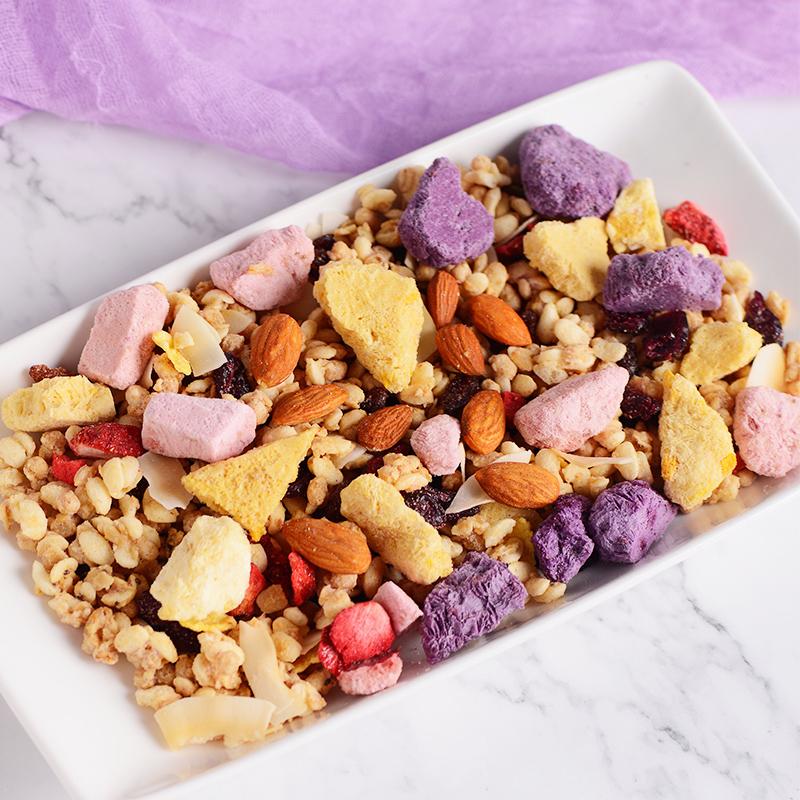 三色鼠酸奶果粒麦片块营养代早餐冲饮即食干吃水果坚果燕麦片350g