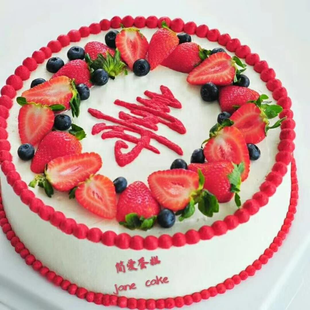 卓越蛋糕模型 新款祝寿寿桃系列仿真生日蛋糕 庆生