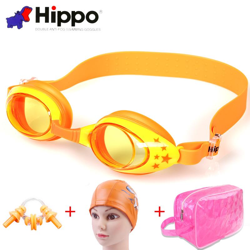 儿童泳镜男童女童游泳眼镜游泳镜防水防雾高清游泳装备男孩女孩
