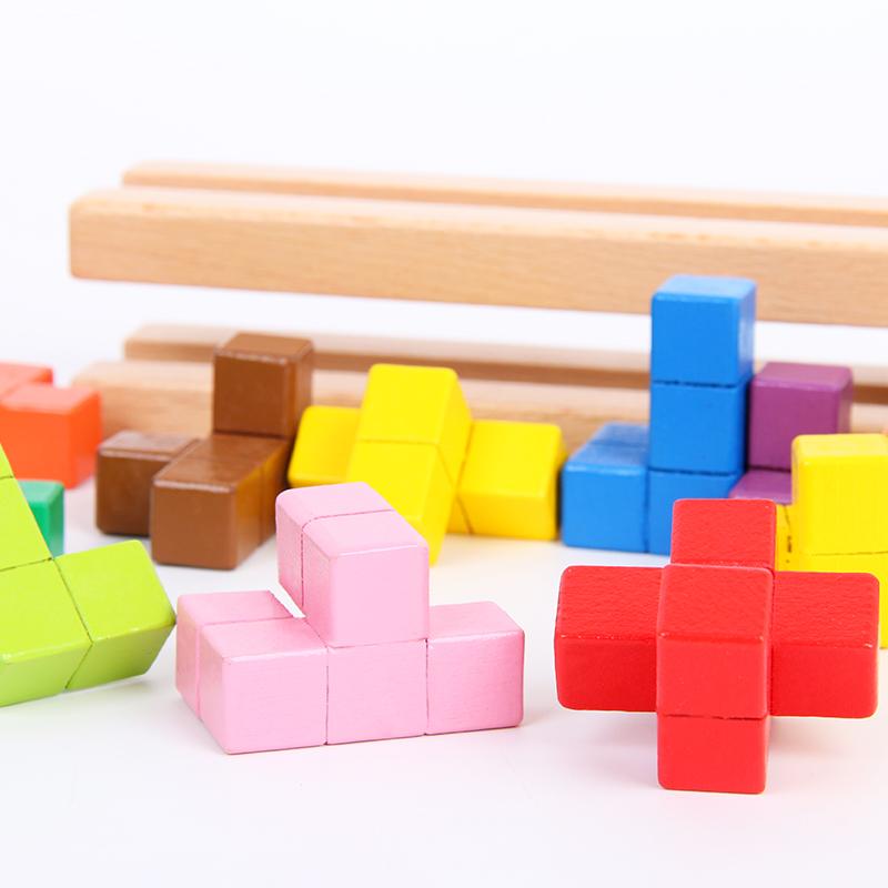 儿童智力开发大脑逻辑思维训练注意力空间堆塔智慧闯关益智力玩具