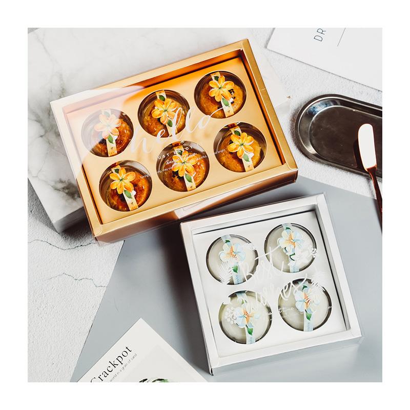 [原创]蛋黄酥包装盒4粒青团雪媚娘礼品礼盒6格高档透明盒子手提袋
