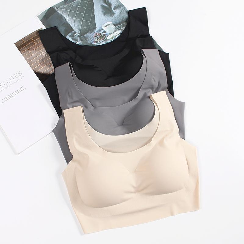 尚品日本内衣女无钢圈运动无痕瑜伽背心一片式抹胸睡眠舒适文胸罩