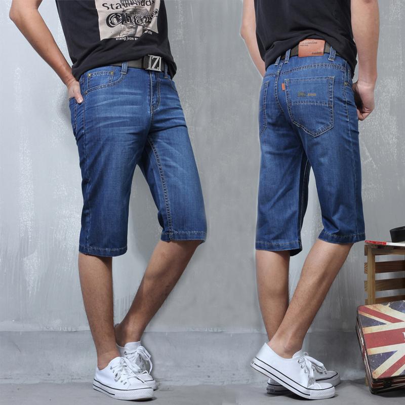 牛仔短裤男土直筒夏季五分裤休闲超薄款夏天中裤马裤中年人5分裤
