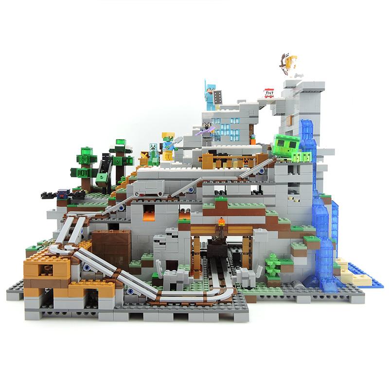 乐拼18032我的机关拼插积木儿童玩具村庄世界农场积木乐高山洞有什么玩图片