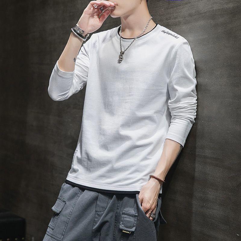 男士长袖t恤2020新款韩版潮流上衣服秋装学生体恤打底衫卫衣男装