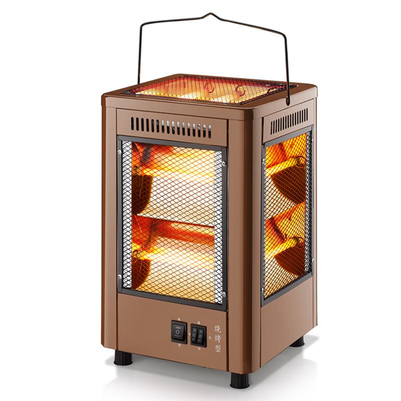 五面取暖器四面烤火炉烧烤型小太阳家用电热扇烤火器电烤炉电暖气