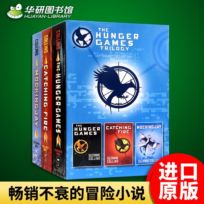 饥饿游戏三部曲全套1-3册  英文原版 The Hunger Games Trilogy 英文版科幻小说 燃烧的女孩 嘲笑鸟 反乌托邦电影原著进口英语书籍