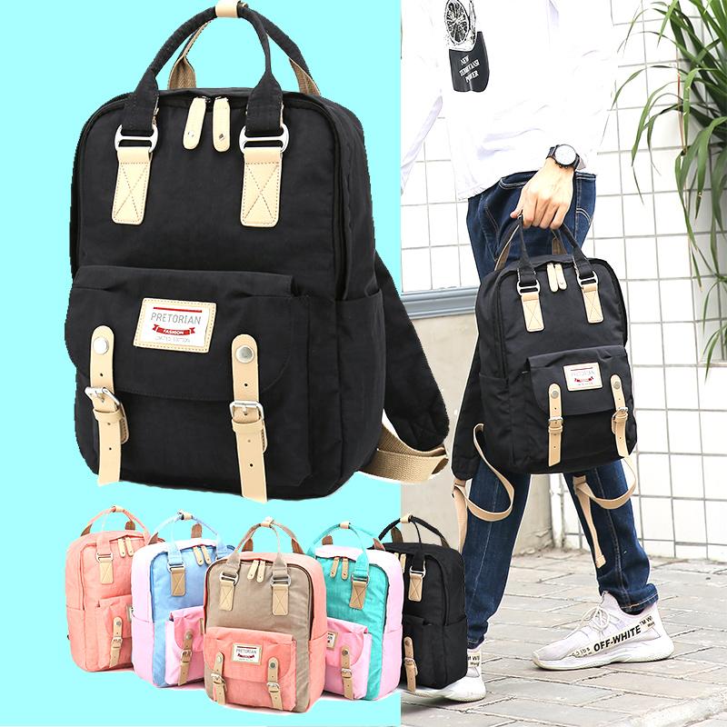正甜甜圈男女韩版双肩多用背包日系大容量学生校园书包离家出走包