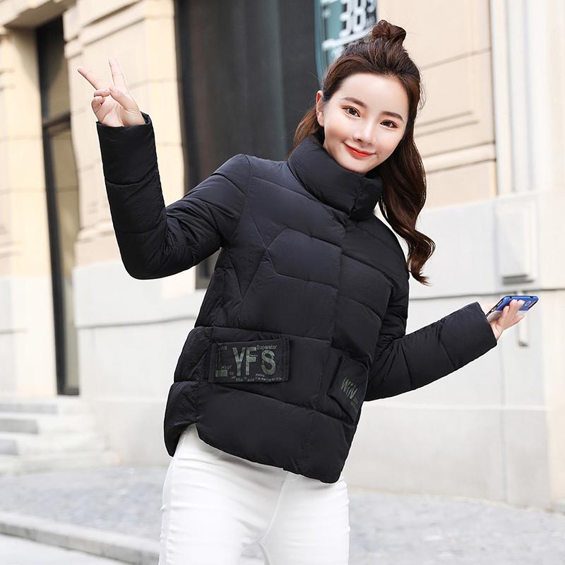 棉衣女短款2018新款加厚羽绒服修身韩版小棉袄学生冬装棉服外套