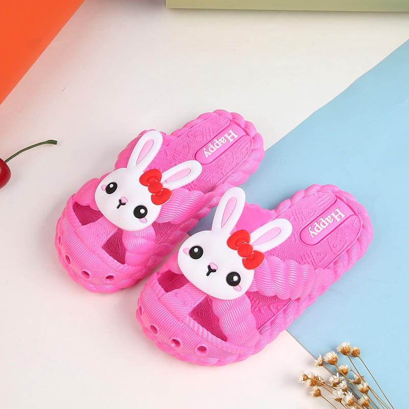 兔子小熊儿童拖鞋夏季男女可爱防滑软底宝宝拖鞋小童中童包头拖鞋