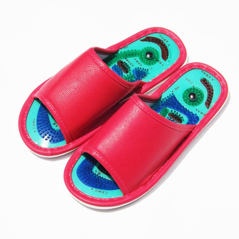 男女带刺磁疗皮按摩拖鞋穴位足疗鞋家用室内防滑脚足底保健韩国夏