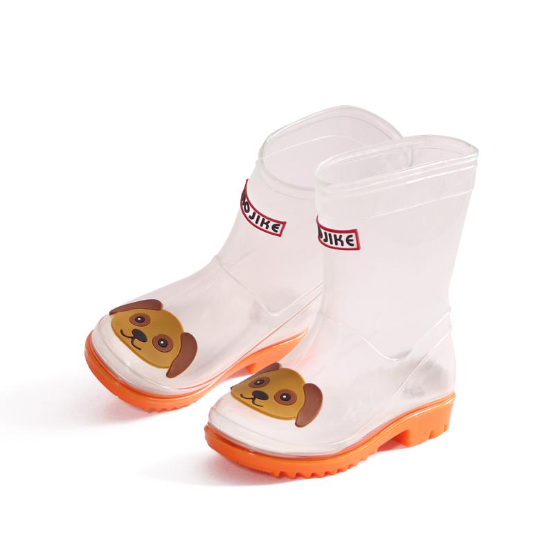 儿童套鞋雨鞋卡通防水雨靴中大童小学生防滑水鞋透明可爱四季胶鞋