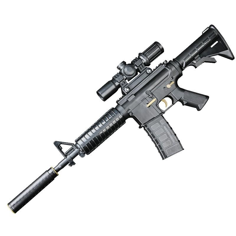 绝地枪童年玩具木质98k狙击可v绝地玩具求黄金加特林迪宝乐积木图片